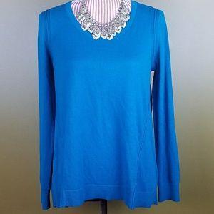 [LOFT] Teal High Low Soft Lightweight Sweater